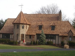 One Of The Most Traditional Cedar Shake Roofing